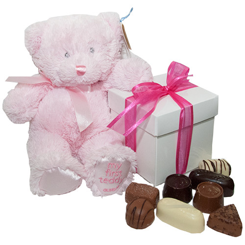 Geboorte knuffels - Kraamcadeau My First teddy (girl)