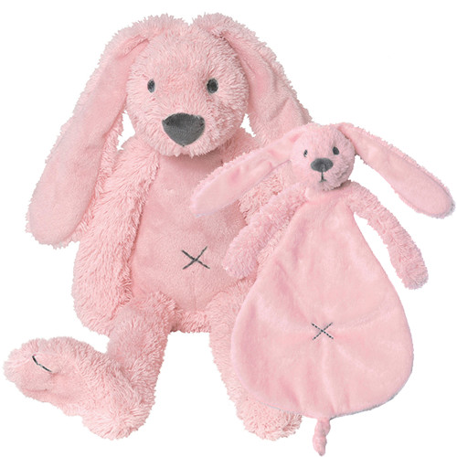 Geboorte knuffels - Pink Rabbit Richie + tuttle