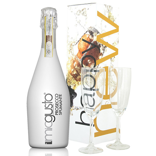 KERST WIJN CHAMPAGNE - Prosecco Spumante White in Happy New Year Box
